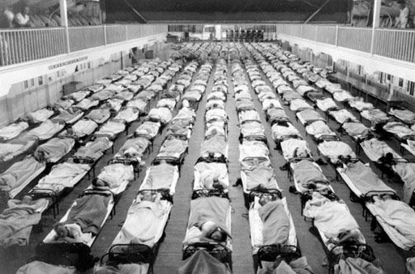 Dịch cúm năm 1918 khiến hàng trăm triệu người chết.
