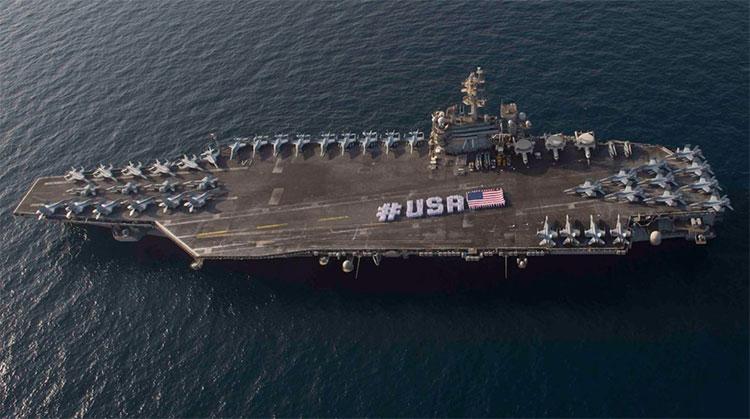 Siêu tàu sân bay lớp Nimitz trở thành biểu tượng sức mạnh toàn cầu của Hải quân Mỹ.