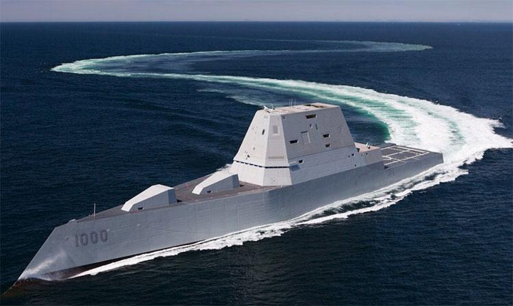 """Tàu khu trục lớp Zumwalt được ví như là """"tàu khu trục tương lai""""."""