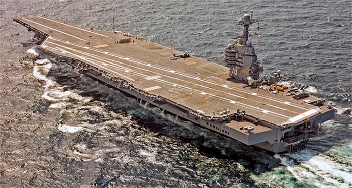 Siêu tàu sân bay lớp Ford là chiến hạm mới nhất của Hải quân Mỹ.