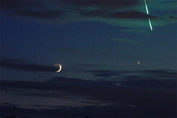 Bức ảnh do nhà thiên văn học người Đức Uwe Reicher đăng tải trên Twitter.