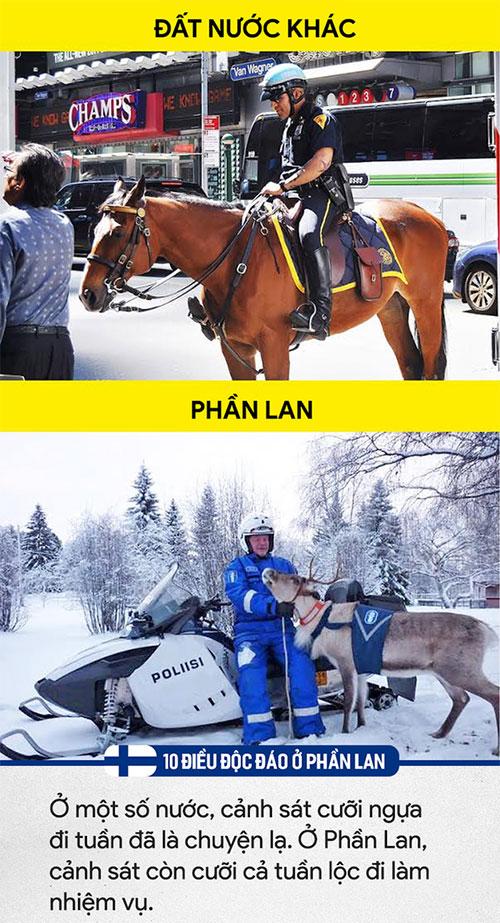 Cảnh sát Phần Lan còn cưỡi cả tuần lộc đi làm nhiệm vụ
