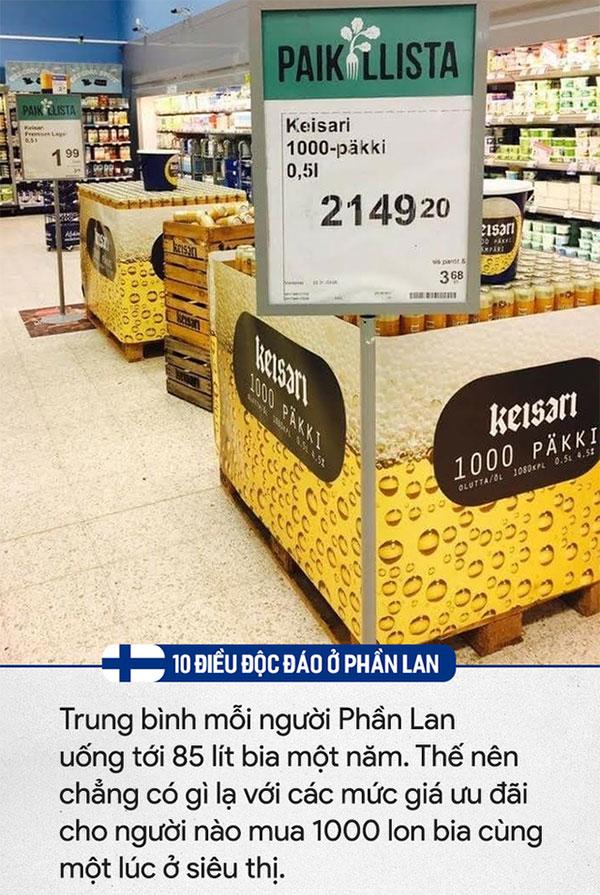 Trung bình một người Phần Lan uống tới 85 lít bia 1 năm