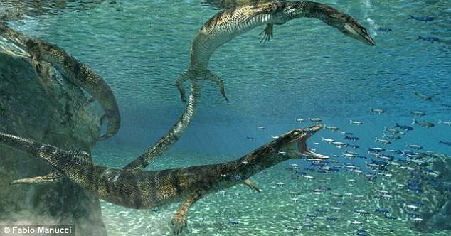 Hình ảnh mô phỏng loài thằn lằn biển cổ đại mới được phát hiện