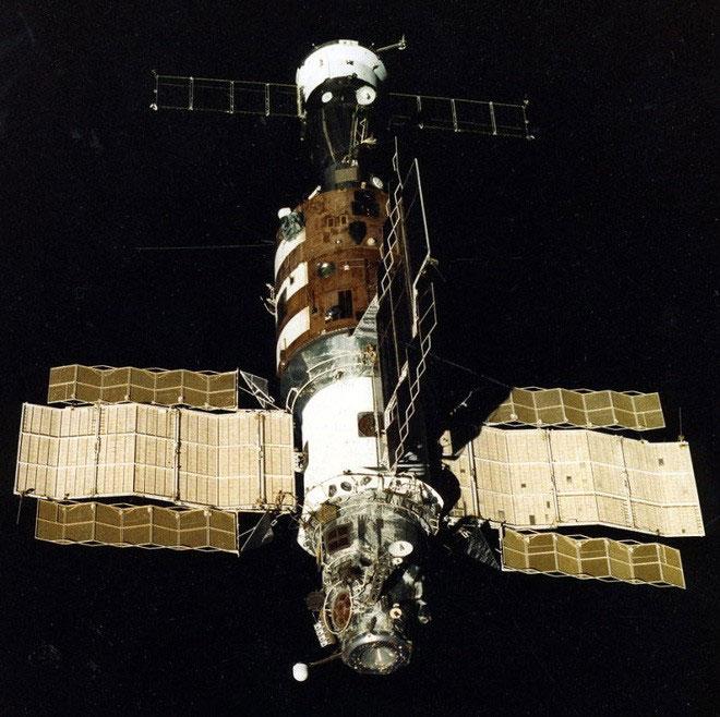 Hình ảnh trạm vũ trụ Salyut 1 của Liên Xô.