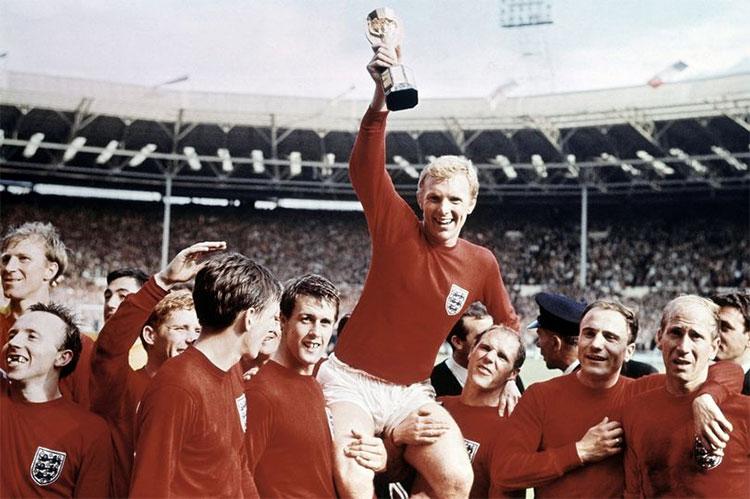 Đội tuyển Anh duy nhất một lần nâng cao chiếc cúp Jules Rimet vào năm 1966.