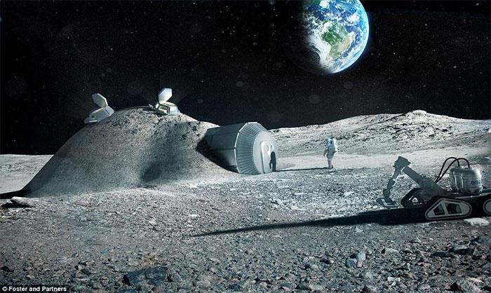 Vào năm 2016, người đứng đầu ESA lên kế hoạch xây dựng một ngôi làng trên mặt trăng, được thiết kế bởi công ty Foster and Partners
