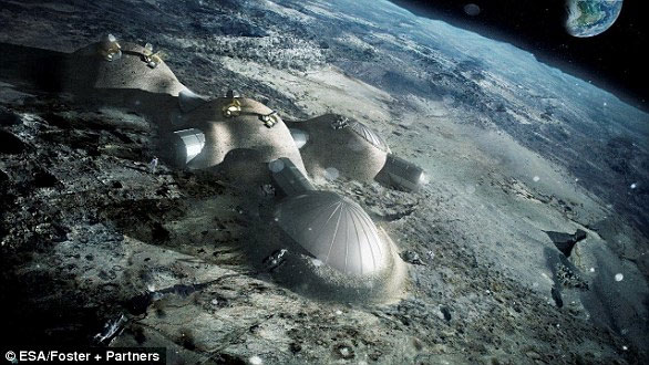 Các công trình trên mặt trăng có thể được xây dựng trước bởi các robot gửi lên từ Trái đất trước khi các phi hành gia đặt chân đến.