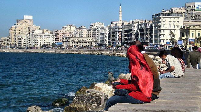 Hầu hết người dân tại Alexandria chưa nhận thức được tác hại của biến đổi khí hậu.