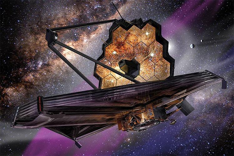 Kính viễn vọng James Webb sẽ hoạt động cách Trái Đất 1,5 triệu km.