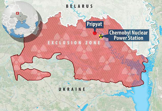 Khu vực nhà máy điện hạt nhân Chernobyl