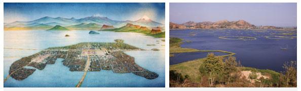 Hồ Texcoco được cho là có 1 thành phố nổi xưa và trù phú hơn ngày nay nhiều.