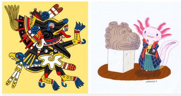 Kỳ giông Mexico gắn với vị thần Xolotl và đến nay vẫn còn xuất hiện nhiều trong văn hóa.