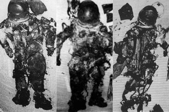 Thi thể còn lại của phi hành đoàn Apollo 1.