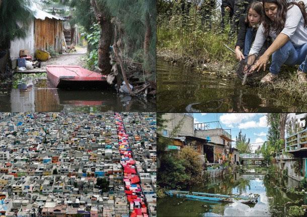 Quận Xochimilco đông đúc và ô nhiễm.