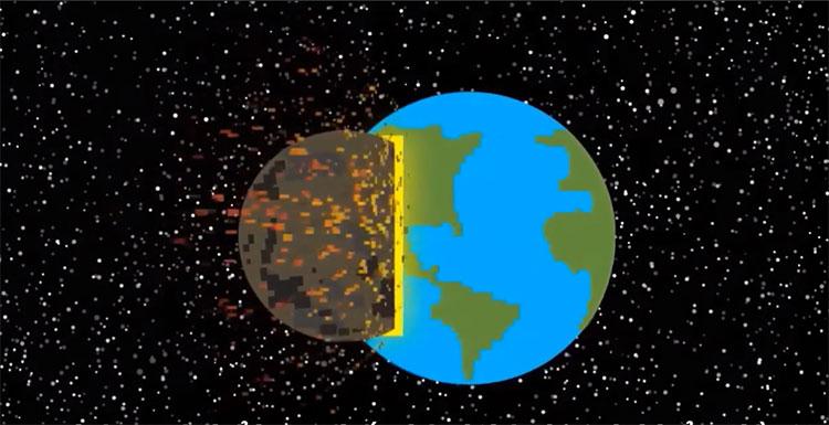 Va chạm mạnh với tiểu hành tinh có thể khiến Trái đất bị phá hủy.
