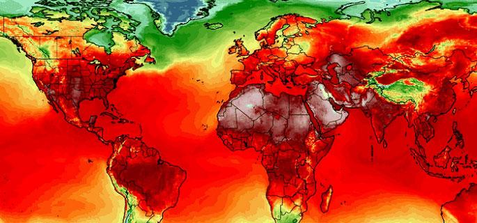 Cả thế giới nóng rực với nhiều mức nhiệt kỷ lục.