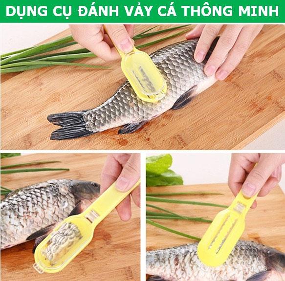 Dụng cụ đánh vảy cá thông minh