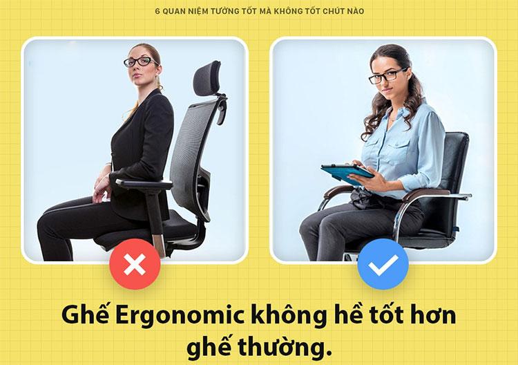"""Các loại ghế """"Ergonomic"""" thì tốt hơn?"""