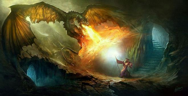 Rồng được cho là khạc ra luồng khí dễ cháy, rồi bùng lên nhờ tia lửa tạo thành giữa hai hàm răng.