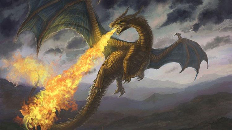 Rồng lửa trong văn hóa phương Tây.