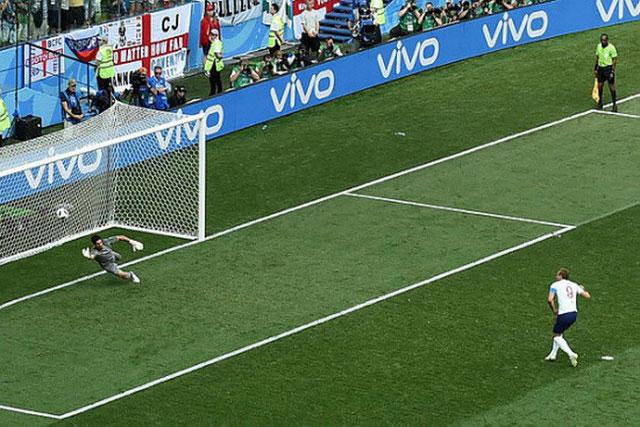 Cú sút penalty của Harry Kane trong trận Anh gặp Panama