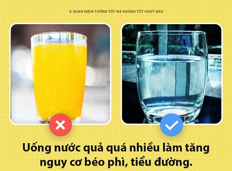 Uống nhiều nước hoa quả là tốt?