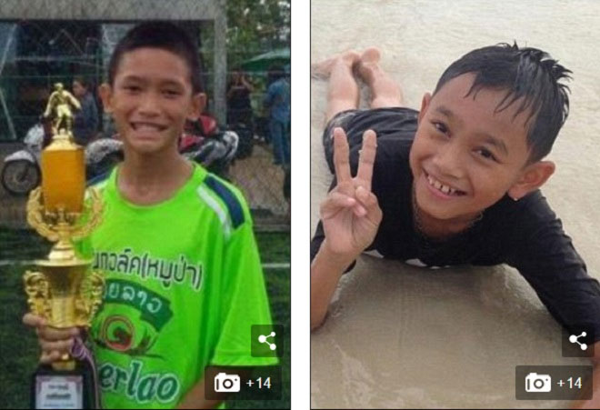 Hai cậu bé được cho là đã được các thợ lặn giải cứu.