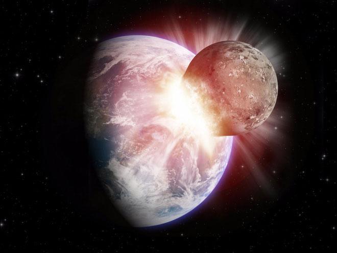 Hành tinh đâm vào Trái đất
