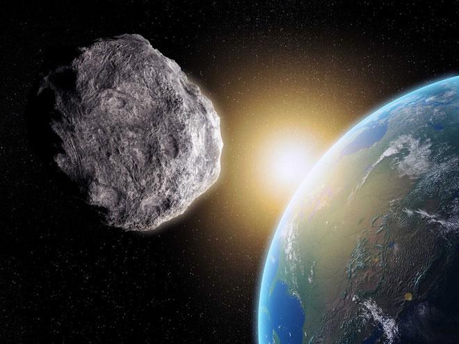 Tiểu hành tinh đâm vào trái đất
