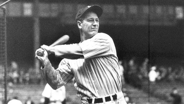 VĐV bóng chày Lou Gehrig.