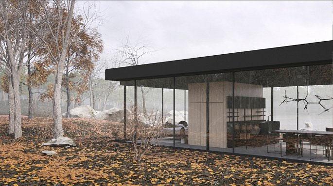 Ngôi nhà được chia tách làm 2 không gian riêng biệt