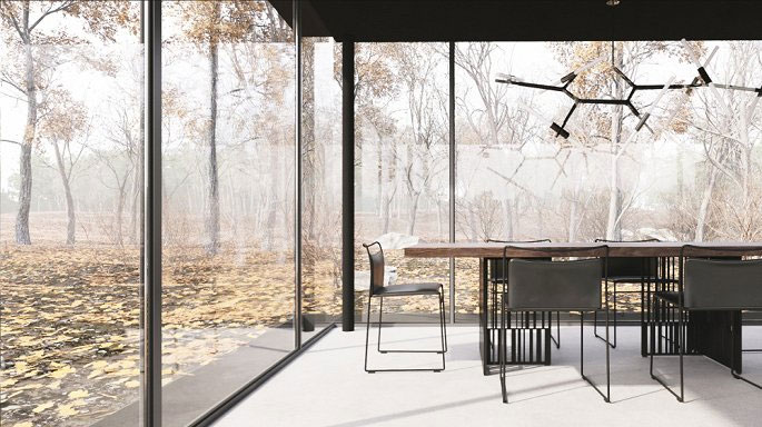 Khung cảnh hòa vào thiên nhiên tuyệt đẹp khi ngồi trong nhà.