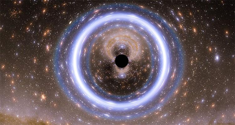 Mô phỏng lại hình ảnh Sagittarius A*.