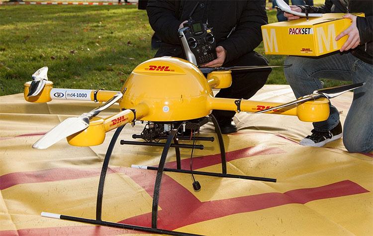 DHL thử nghiệm dùng drone để giao thuốc khẩn cấp hồi năm 2013.