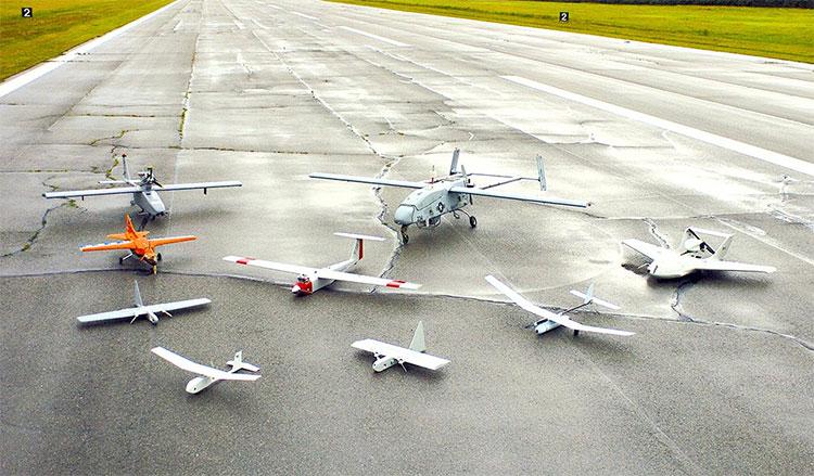 UAV có thể có nhiều loại và kích thước khác nhau.