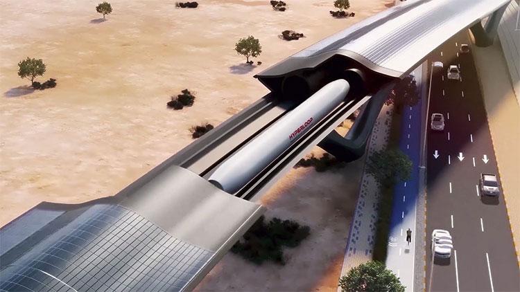 Thiết kế đường tàu Hyperloop ở Quý Châu, Trung Quốc.
