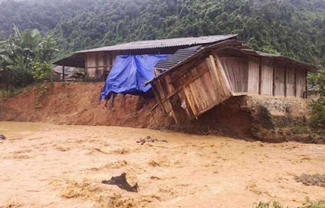 Một trận lũ quét tại Mù Cang Chải, Yên Bái.