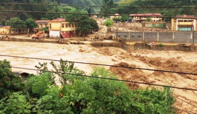 Lũ quét gây thiệt hại nghiêm trọng tại huyện Mường la, tỉnh Sơn La.