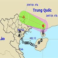 Áp thấp nhiệt đới gây mưa to ở miền núi phía Bắc