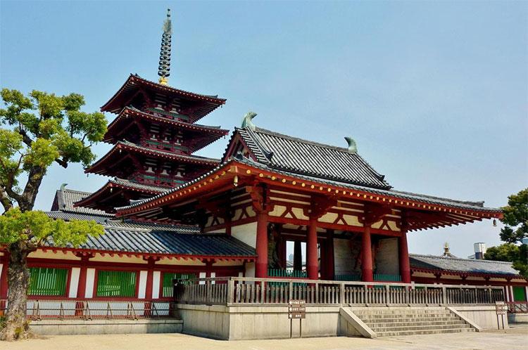 Chùa Shitennō-ji - ngôi chùa đầu tiên tại Nhật Bản.