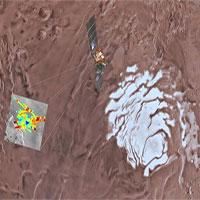 Phát hiện hồ nước rộng 20km dưới bề mặt sao Hỏa