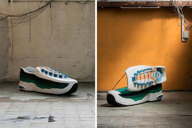 Quan tài hình chiếc giày.