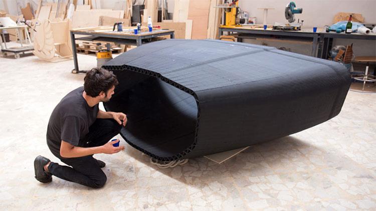 Một chiếc thuyền được in bằng 3D để vượt Đại Tây Dương.
