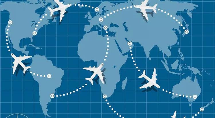 Trái đất của chúng ta hình cầu và máy bay sẽ bay bám theo bề mặt Trái đất.
