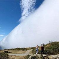 Tường sương mù che phủ bãi biển Anh
