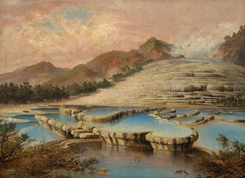 Bức tranh của Charles Bloomfield vẽ bậc thang Trắng năm 1893.