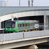 """Chùm ảnh: Đoàn tàu đường sắt trên cao """"vút bay"""" từ ga Cát Linh tới Yên Nghĩa"""