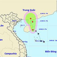 Xuất hiện áp thấp nhiệt đới trên biển Đông, mưa giông trên cả nước