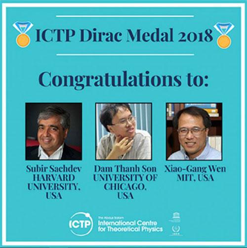 Ba nhà vật lý đoạt Giải thưởng và Huy chương Dirac 2018.